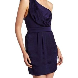 BCBGeneration One-Shoulder Dress Midnight